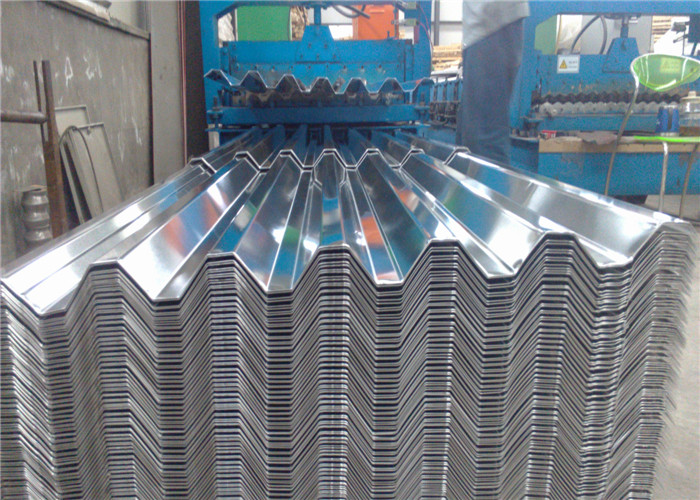 H14 750mm Aluminium Corrugated Roofing Sheets / Panels Industrial Trapezoidal